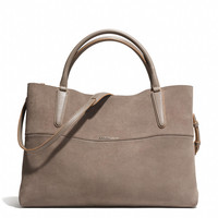 THE LARGE SOFT BOROUGH BAG IN SUEDE