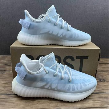 Morechoice Tuhl Adidas Yeezy Boost 350 V2 Mono Ice Hollow Running Shoes Low Sneaker Breathable Jogging Shoes Gw2869