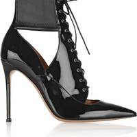 Gianvito Rossi - Lace-up patent-leather ankle boots