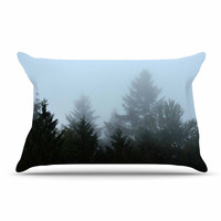 "Robin Dickinson ""Welcome to Earth"" Mist Forest Pillow Case"
