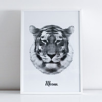 SALE / SECONDS / Tiger says Meow / Print