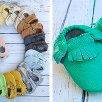 Real Leather Baby Moccasin Shoes