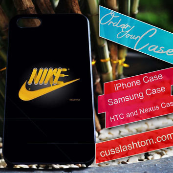 Exclusive Nike Yellow shoes iPhone for 4 5 5c 6 Plus Case, Samsung Galaxy for S3 S4 S5 Note 3 4 Case, iPod for 4 5 Case, HtC One M7 M8
