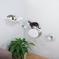Wall-Mounted Cat Lounging and Scratcher Set