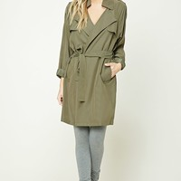 Notched Collar Wrap Jacket