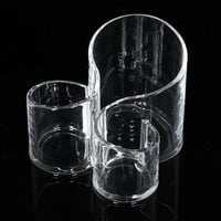 Acrylic Clear Cylindrical Cosmetic Container Makeup Brush Lipstick Storage Organizer