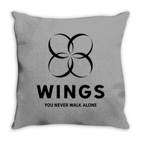 BTS Wings Throw Pillow
