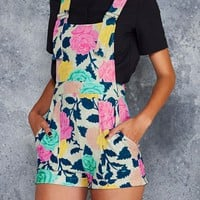 NEON ROSES SHORT OVERALLS - LIMITED