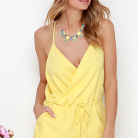 Looky Here Yellow Romper