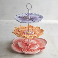 Floral 3-Tiered Server