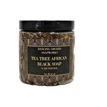 Tea Tree African Black Soap (Paste)