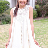Peaceful Bliss Dress - Cream