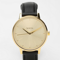 Urban Outfitters - Nixon Kensington Leather Gold Watch