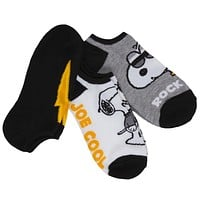 Peanuts - Snoopy Cool Women's No-Show Ankle Socks 3-Pack