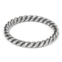 Twist Ring 925 Solid Sterling Silver Twisted Rope Stacking Stackable Stack Band Women