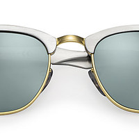 Ray-Ban RB3507 137/40 49-21 CLUBMASTER ALUMINUM Silver sunglasses   Official Online Store US