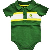 John Deere Retro Stripe Onesi Bodysuit Green/Yellow