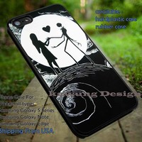 Silhouette's Couple Image iPhone 6s 6 6s+ 5c 5s Cases Samsung Galaxy s5 s6 Edge+ NOTE 5 4 3 #cartoon #animated #NightmareBeforeChristmas DOP656