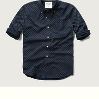 Geo Print Pocket Shirt