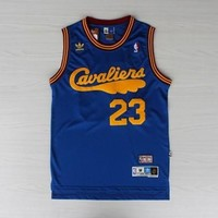 LeBron James 23 Cleveland Cavaliers Blue  Classic Throwback Swingman Jersey