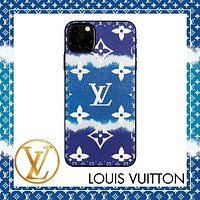 Onewel LV Case Louis Vuitton Clouds Gradient Colorful Monogram iphone shell iPhone 6 s 7 s 8 XS XR 11 Pro Max optional Blue