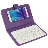 Bluetooth Keyboard Phone Case For iPhone 6 6S Leather case with wireless Keyboard for Lenovo Samsung Huawei Xiaomi ZTE Sony HTC