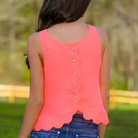 Light The Spark Crop Top-Hot Coral