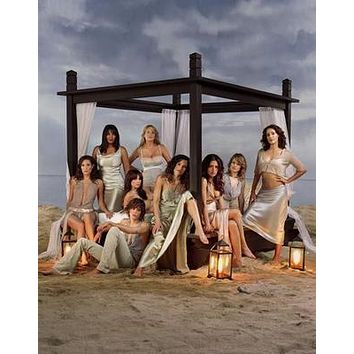 L Word Beach poster Metal Sign Wall Art 8in x 12in