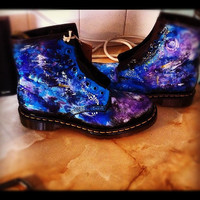 Hand Painted Galaxy Doc Martens