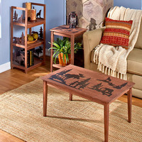 Lodge Living-room Furniture Collection Wood Rustic Cabin Primitive Home Decor