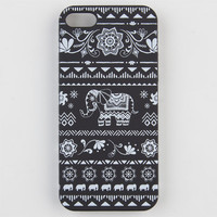Boho Elephant Iphone 5/5S Case Black/White One Size For Women 23534012501