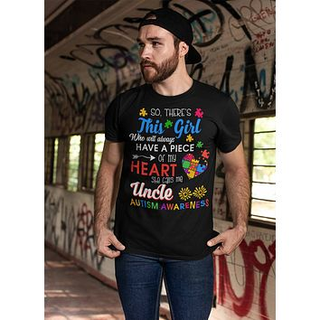 Men's Personalized Autism T Shirt This Girl Calls Me Shirts Custom Shirts Piece Of Heart Autism Shirt Custom Autism Shirt