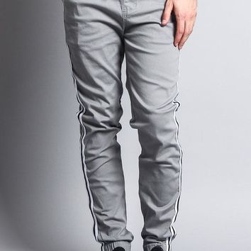 Men's Side Striped Band Joggers