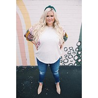 Why Not Top, Oatmeal Multi | Plus Size