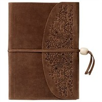 Classic Embossed Leather Journal With