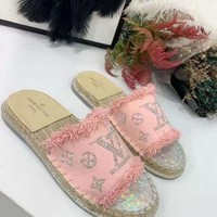 DCCK Louis Vuitton LV Flip Flop Sandal Women Candy-colored Slipper