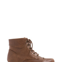 Vintage Lace-Up Ankle Boots