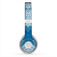The Intricate Blue & White Snowflake Name Script Skin for the Beats by Dre Solo 2 Headphones