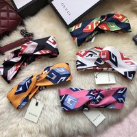 GUCCI Print Silk Headband