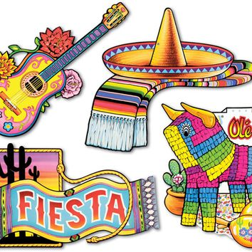 fiesta cutouts - printed 2 sides #07155 Case of 12