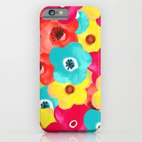 painted flowers; iPhone & iPod Case by Pink Berry Patterns