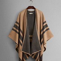 Striped Cashmere Merino Wool Wrap