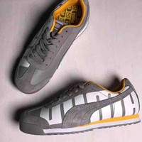 PUMA pig leather two-leather comfortable casual sneakers F-CSXY