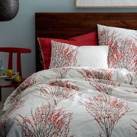Organic Cotton Sakura Duvet Cover + Shams
