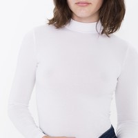 Brushed Jersey L/S Turtleneck Top | American Apparel