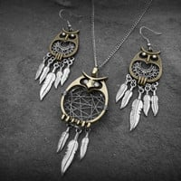 Owl Dream Catcher Earrings