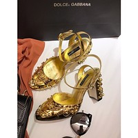 D&G DOLCE&GABBANA  Women Casual Shoes Boots fashionable casual leather Women Heels Sandal Shoes