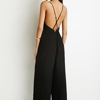 Crisscross Open-Back Jumpsuit