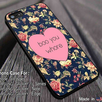 Boo You Whore Burn Book Mean Girls iPhone 6s 6s+ 5s 5c Cases Samsung Galaxy s5 s6 Edge+ NOTE 5 4 3 #art ii