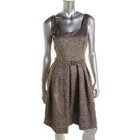 Donna Morgan Womens Woven Metallic Party Dress